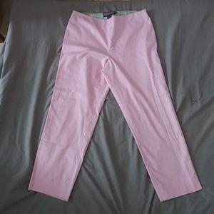 Vineyard vines pink cropped trouser